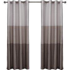 magdalena striped semisheer grommet curtain panels set of 2
