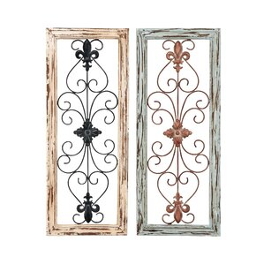 Wood And Metal Wall Decor (Set Of 2)