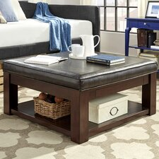 Back East Cross Cushion Ottoman by Three Posts