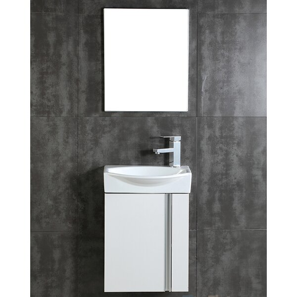 "fine fixtures compacto 16.34"" single bathroom vanity set with"