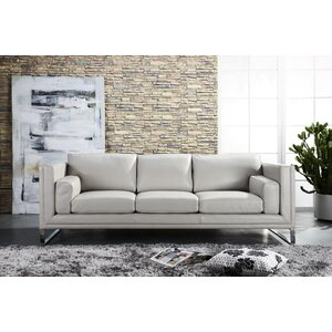 Theodis Top Grain D Grade Contemporary Sofa by Orren Ellis