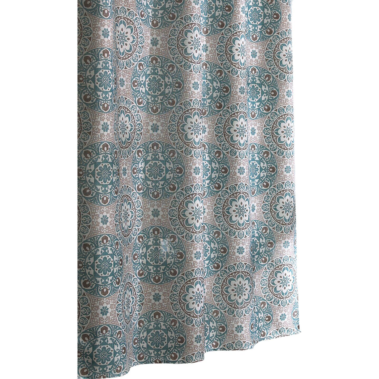 Alcott Hill Byard Shower Curtain  Reviews Wayfair - Brown and turquoise shower curtain