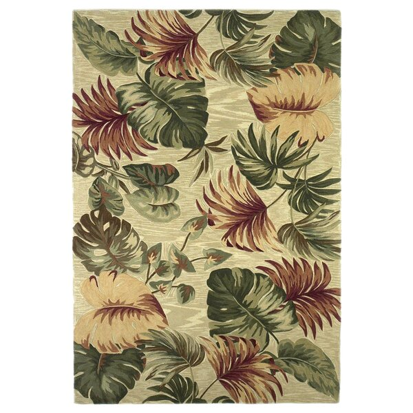 Bay Isle Home Murray Beige Palm Leaves Area Rug U0026 Reviews | Wayfair