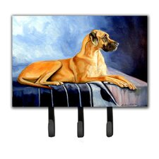 Natural Fawn Great Dane Leash Holder and Key Hook by Caroline's Treasures