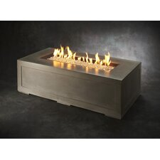 Linear Cove Concrete Gas Fire Pit Table by The Outdoor GreatRoom Company