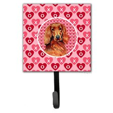 Irish Setter Valentine's Love and Hearts Leash Holder and Wall Hook by Caroline's Treasures