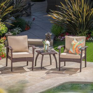 Springboro 3 Piece Chat Set With Cushions