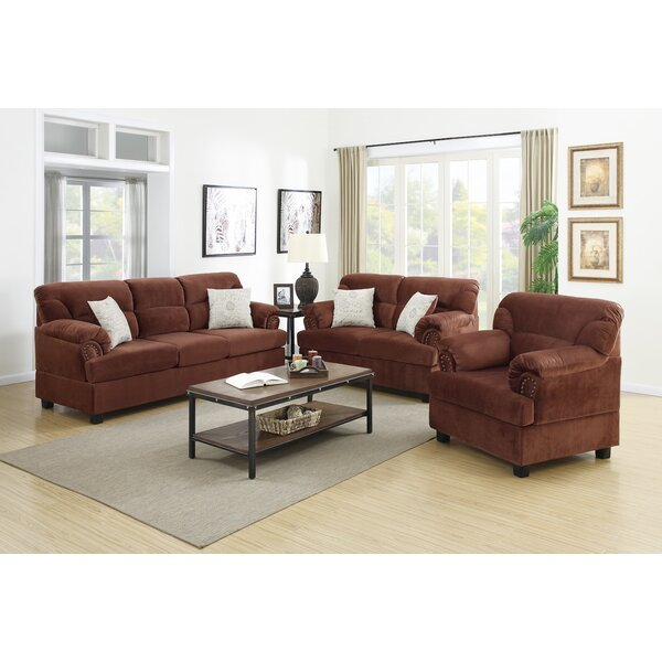 Infini Furnishings 3 Piece Living Room Set U0026 Reviews | Wayfair Amazing Design