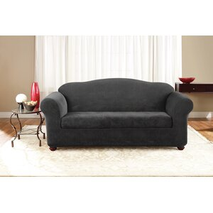 3 Piece Stretch Pique Polyester Sofa Slipcover Set by Sure Fit