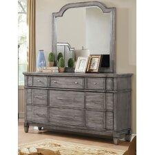 Parham 9 Drawer Dresser with Mirror by One Allium Way