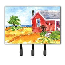 Old Cottage House at The Lake Or Beach Leash Holder and Key Hook by Caroline's Treasures