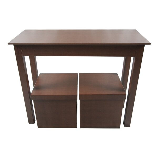 upscale designs by ema console table and 2 matching storage ottoman reviews wayfair