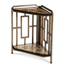 Discoveries 2-Tier Corner Etagere End Table by Michael Amini (AICO)