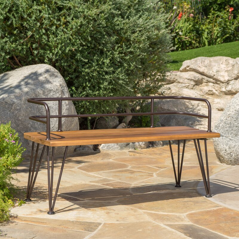 Awesome Frye Outdoor Wood Garden Bench