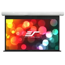 Saker White Electric Projection Screen by Elite Screens
