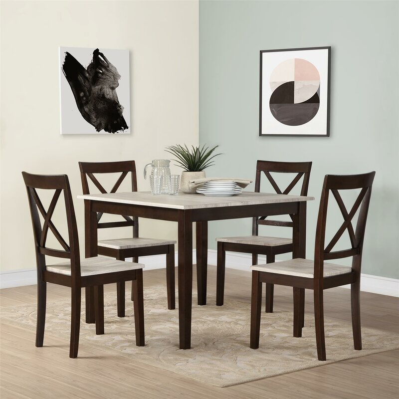 5 Piece Kitchen   Dining Room Sets  SKU  ANDO1793  default name. Andover Mills Tilley Rustic 5 Piece Dining Set   Reviews   Wayfair