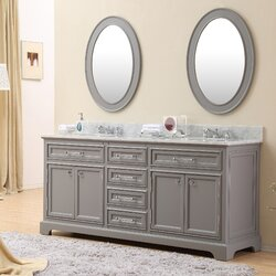 Darby Home Co Colchester 72 Double Sink Bathroom Vanity Set with