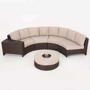 Tommie 6-Piece Sectional Seating Group with Ottoman