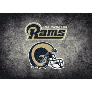 NFL Distressed Area Rug