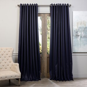 Sheldon Solid Blackout Thermal Extra Wide Grommet Single Curtain Panel