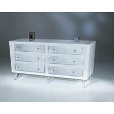 Sylvana Acrylic 6 Drawer Dresser by Shahrooz