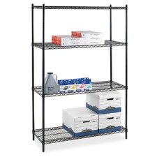 Industrial Adjustable Wire 72 H 4 Shelf Shelving Unit Starter by Lorell