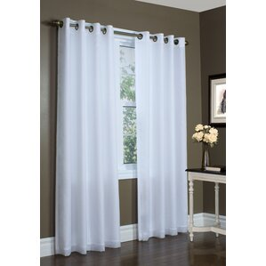 Irene Lined Solid Sheer Single Curtain Panel
