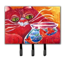 Big Cat at The Fishbowl Leash Holder and Key Hook by Caroline's Treasures