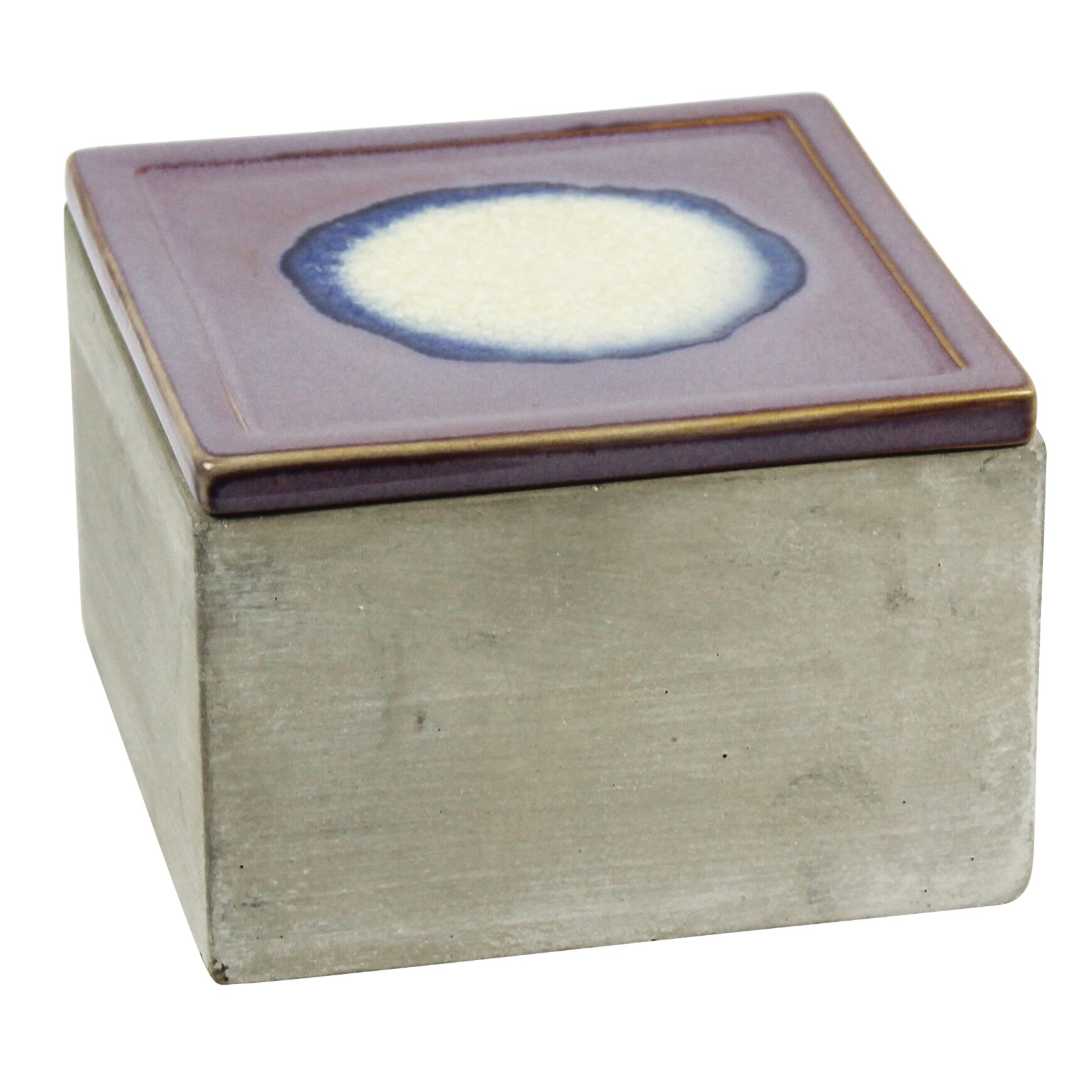 cement decorative box with rose lid - Decorative Boxes With Lids