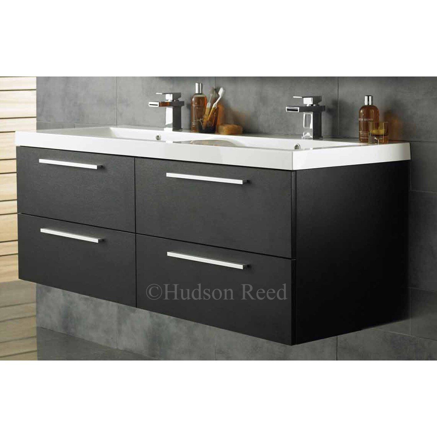 hudson reed quartet 144cm wall mounted double basin vanity. Black Bedroom Furniture Sets. Home Design Ideas