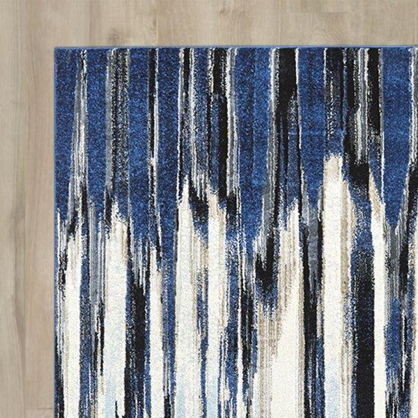 Varick Gallery Beach Channel Indigo Area Rug U0026 Reviews | Wayfair
