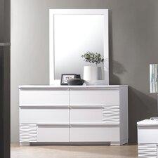 Gaines 6 Drawer Dresser with Mirror by Latitude Run