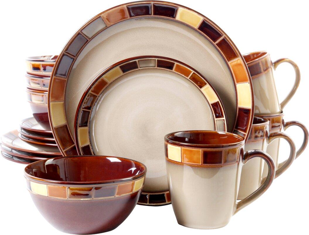 dinnerware sets you'll love  wayfair - martha  piece dinnerware set service for