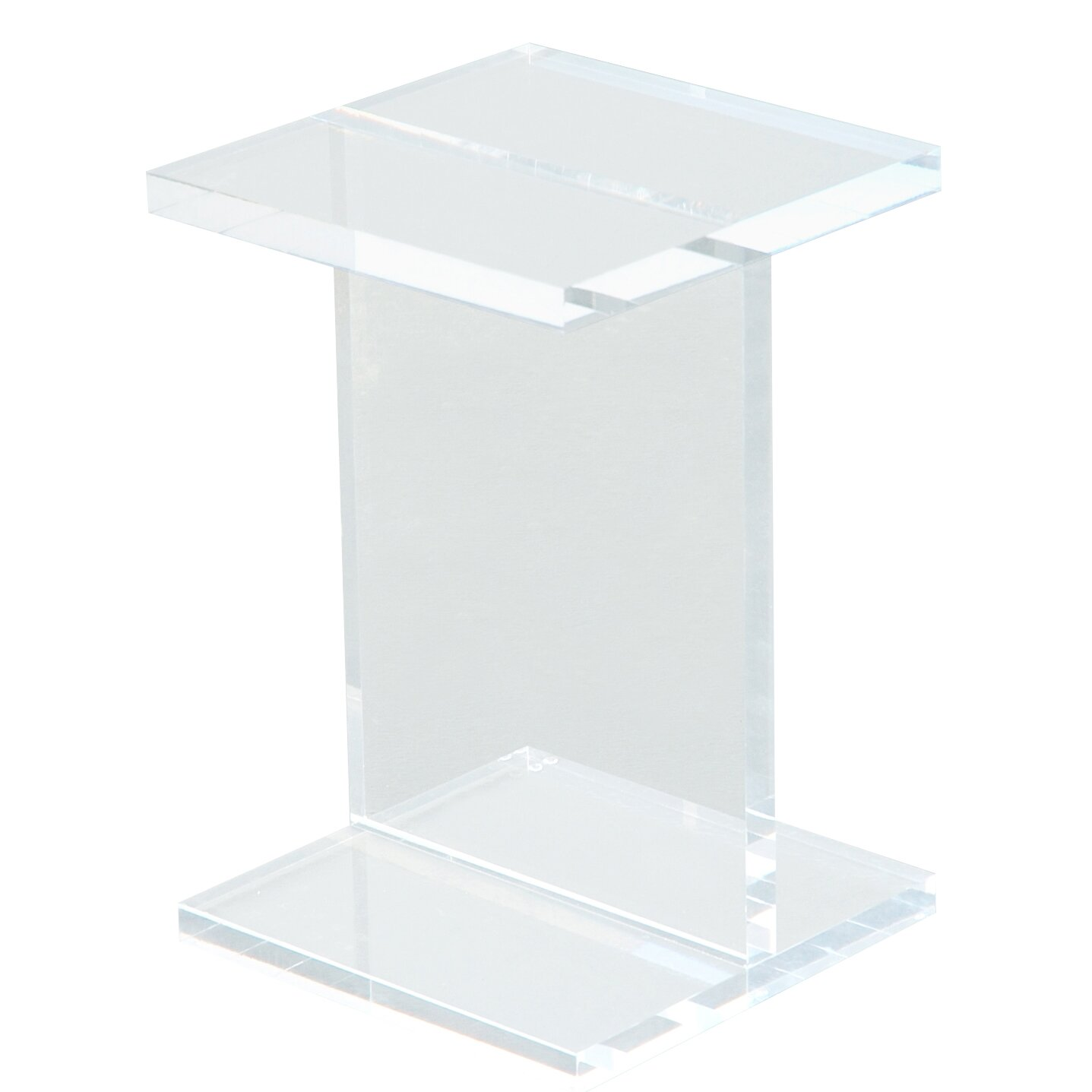 lucite end table - acrylic ibeam end table reviews allmodern