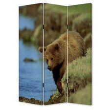 72 x 48 Bear 3 Panel Room Divider by Screen Gems