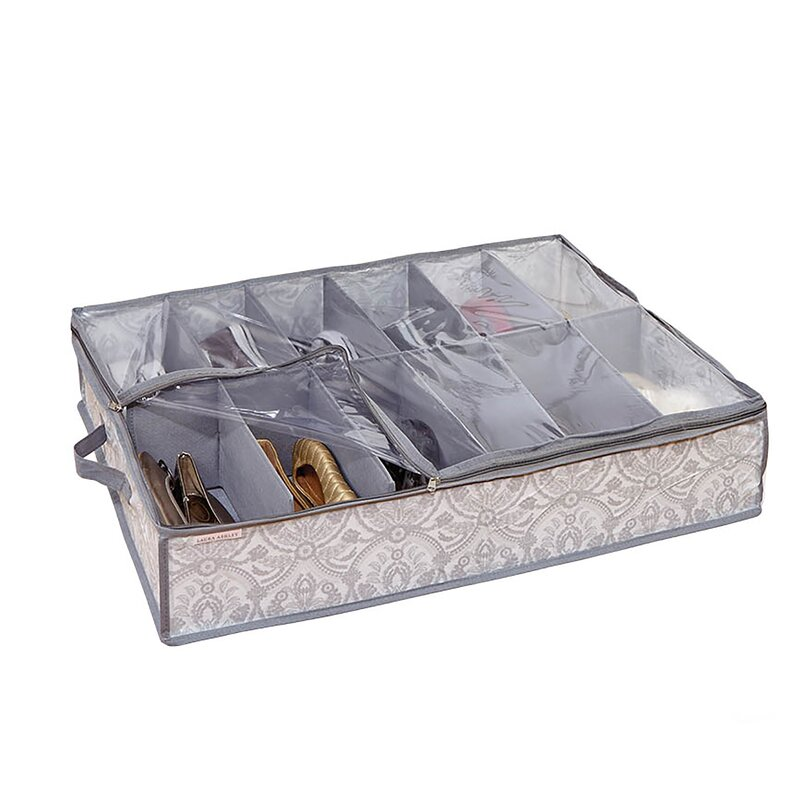 Laura Ashley Home Non Woven 12 Pair Under the Bed Shoe Box ...