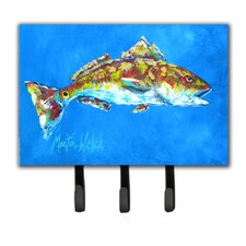 Fish Seafood Two Fish Leash Holder and Key Hook by Caroline's Treasures