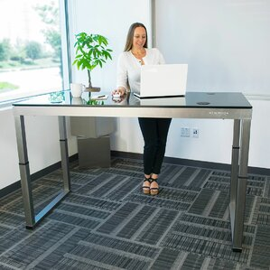 Glass Standing Desks Youll Love Wayfair