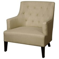 Corinne Tufted Back Fabric Armchair by New Pacific Direct