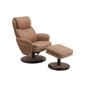 Cush Swivel Recliner and Ottoman by Comfort Chair