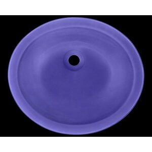 Glass Circular Undermount Bathroom Sink Polaris Sinks