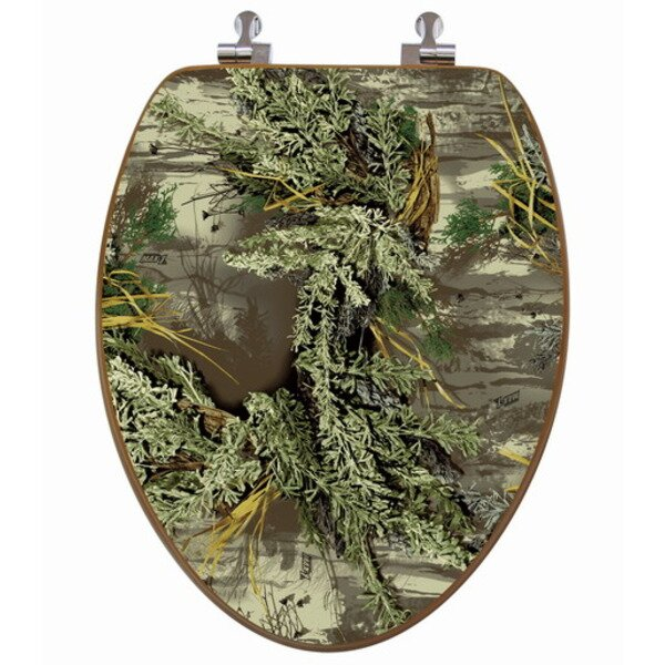 Topseat RealTree Camouflage Elongated Toilet Seat Reviews Wayfair