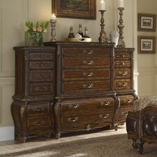Lavelle 6 Drawer Chest with Side Piers by Michael Amini (AICO)