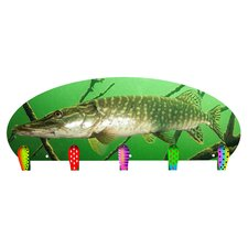 Northern Pike 5 Hook Coat Rack by Next Innovations