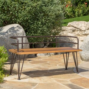Frye Outdoor Wood Garden Bench