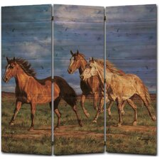 68 x 68 Racing the Sun 3 Panel Room Divider by WGI-GALLERY