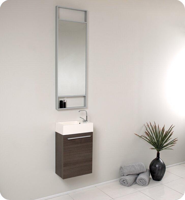 """fresca senza 16"""" single bathroom vanity set with mirror & reviews"""
