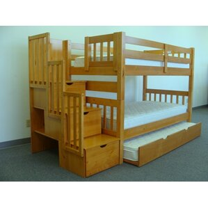 bunk & loft beds with stairs | wayfair