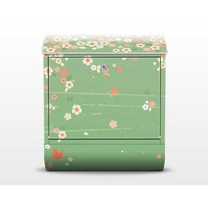 Briefkasten Spring Background mit Zeitungsfach