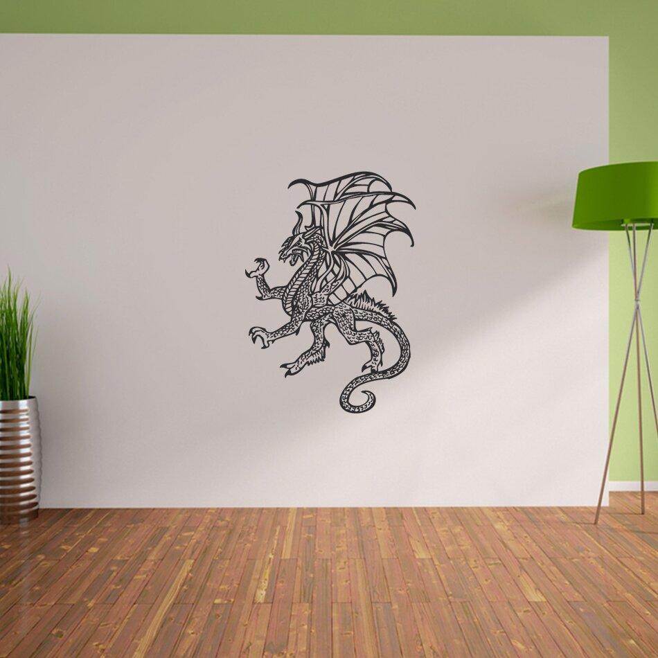 pixxprint wandtattoo gro er drache. Black Bedroom Furniture Sets. Home Design Ideas